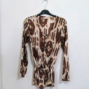 MICHAEL KORS Tunic Ikat pattern Medium